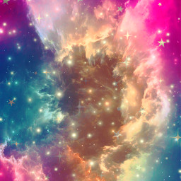 freetoedit glitter sparkle galaxy sky stars nebula space colorful neon pastel cute milkyway clouds aesthetic night overlay background replay