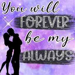 freetoedit galaxy love purple couple picsart