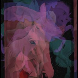 designbyjaz horses whitehorses nightmare fantasyart