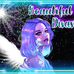 freetoedit neon blue wing wings pastel purple effect effects neongirl pastelgirl girl glitter glittery shiny sparkle sparkles beautifuldisaster picsart neonsigns2021