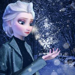 freetoedit challenge eksa snow ice frozen snowflake queen coat cold winter blue snowy black picsart ircthereachinghand thereachinghand