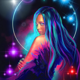 freetoedit neon girl neongirl neonglow glow glowing shiny bright local ecneonsigns2021 neonsigns2021