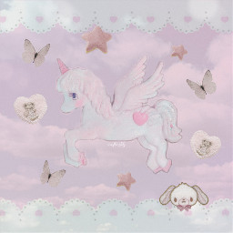 pink vintage soft retro unicorn toys baby babycore pastel pale grunge angel heavenly sky clouds dream dreamy angelic angelcore agere girly aesthetic nostalgia freetoedit default