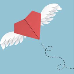 freetoedit love heart flying ircpaperplane paperplane