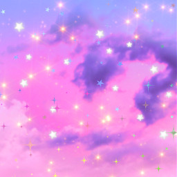 freetoedit glitter sparkle galaxy sky stars clouds pink purple colorful nature aesthetic landscape space universe cosmos overlay background wallpaper