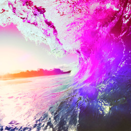freetoedit beachvibes surf wave pinkaesthetic sunset oceanvibes summervibes