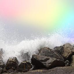 rainbow waves rocks splash mask prismmask prism