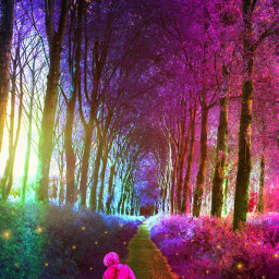 freetoedit forest embrace magicalplaces magicalforest hug