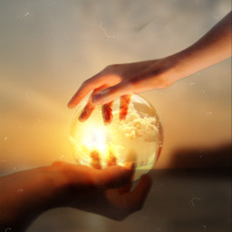 crystals hands sunset dusteffect squarefit picsartchallenge freetoedit ircthereachinghand thereachinghand