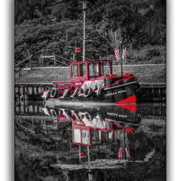 red blackandwhite boat mirroreffect river lowersaxony niedersachsen emotions bederkesa moments local
