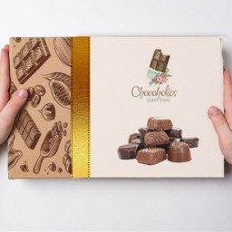 box design chocolate goldribbon logo freetoedit picsart ircdesignthebox designthebox