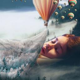airballon covers sleeping foggyforest freetoedit local srcflyingairballoons flyingairballoons