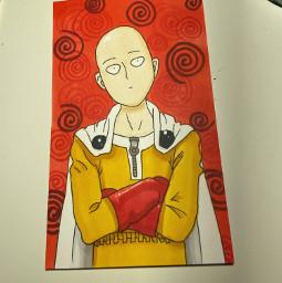 saitama omp anime art drawing onepunchman