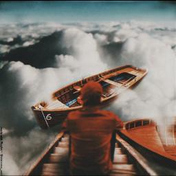 sky clouds dock freetoedit