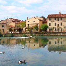 freetoedit landscape nature village houses river mincioriver borghetto borghipiubelliditalia italy myphotography