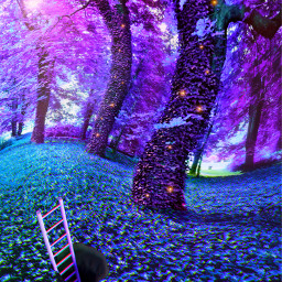 freetoedit fantasy forest magicforest purpleworld escapereality purpleaesthetic purpletrees naturescape whimsical
