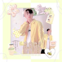 freetoedit jiung choijiung p1harmony p1h p1ece yellow cute aesthetic soft joongwrld kpop