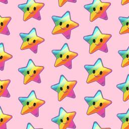 freetoedit remix patternator pink star kawaii