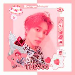 freetoedit theo choitaeyang taeyang p1harmony p1ece red cute aesthetic soft joongwrld kpop