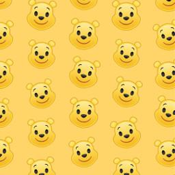 freetoedit remix wallpaper winniethepooh yellow disney patternator