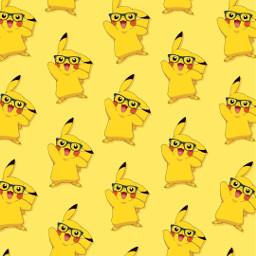 freetoedit remix pikachu yellow patternator wallpaper