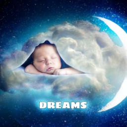 dreams baby photoart art sleep picsart heypicsart dream children sky skyart babyart stars spaceart freetoedit ircgentlecloud gentlecloud