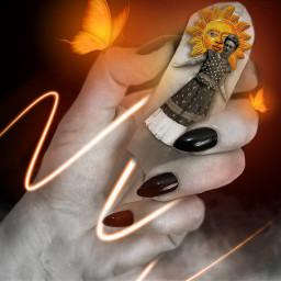 fridakahlo spice frida replay hand edit unibrow_queen art freetoedit