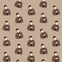 freetoedit remix wallpaper superjunior kingsofkpop e.l.f💙 kyuhyun patternator brown e
