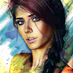freetoedit portret draw paint girl drawing art picsart picsartedit heypicsart reaplay blot remix local avatarka avatar