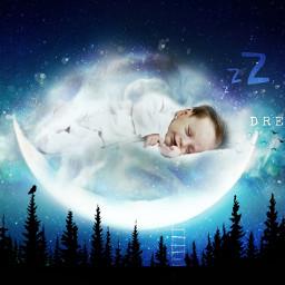 baby dreams dream sleep children chill child art picsart picsartedit space spaceart heypicsart stars kid infant boy freetoedit ircgentlecloud gentlecloud