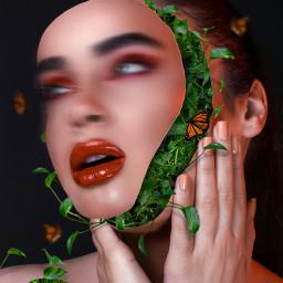 green woman nature surreal local