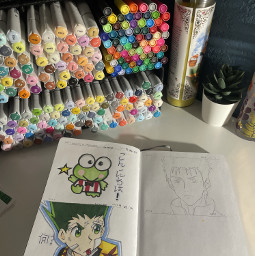 sketchbook anime markers art drawing bruh