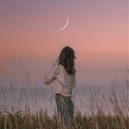 subtitles quotes woman moon sunset calm sun freetoedit summer