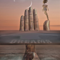 surreal landscape dreams girl future reachforthestars  dedicated freetoedit reachforthestars