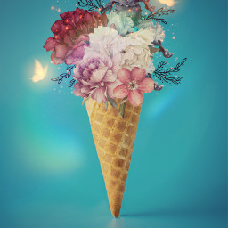 icecream magical magicaleffects brillo glitter brusheffects butterflies mastercontributor freetoedit picsart ircicecreamcone icecreamcone