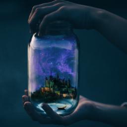 magical castle glitter brilho stars freetoedit picsart ircanemptyjar anemptyjar