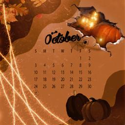 octobor calendar challenge freetoedit overlay pumkin yellow orange halloween autumn leaves tree scary haunted trickortreat bad default srcoctobercalendar2021 octobercalendar2021