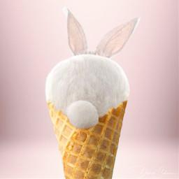 freetoedit rabbit ice icecream rosa rabbitears ircicecreamcone icecreamcone
