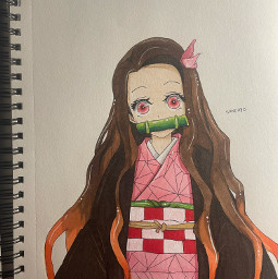 nezukochan nezuko demonslayer anime art drawing
