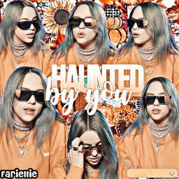 freetoedit billieeilish halloween autum aestheticedit mine fariellie orange hauntedbyyou