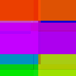 collage addphoto layers colorful abstract squares rectangles saturated