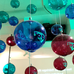 glass balls glassballs colorful art exhibition interesting