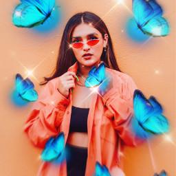freetoedit butterfly sparkle aesthetic cute aestheticvibes glowingbutterflies