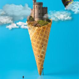 icecreamcone castle challengeoftheday climbing berniesanders freetoedit picsart ircicecreamcone