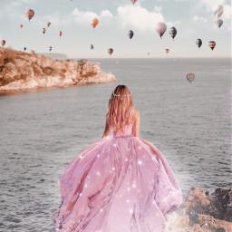 brilho glitter ballons princesa magic amazing freetoedit
