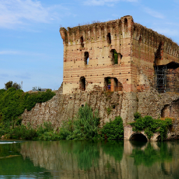 landscape medievalarchitecture history tower river italy myphotography freetoedit