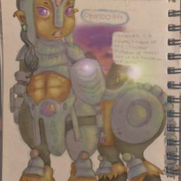 pudding drawing fantasy girl hero videogames centaur cartoon local