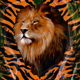 tiger animals jungle exotic roar hearmeroar orange freetoedit picsart ecanimalprintbackgrounds animalprintbackgrounds