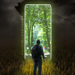 man portal instagrampost travel fantasy field tempest pathway