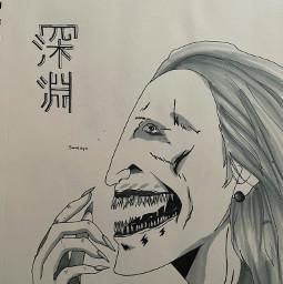 junjiito anime creepy drawing art fuchi sandayo